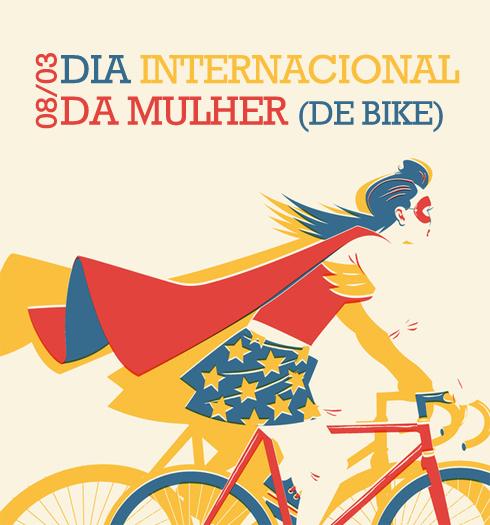 Resultado de imagem para mulher na bike dia da mulher